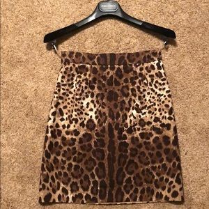 Dolce and Gabbana Leopard Print Mini Skirt
